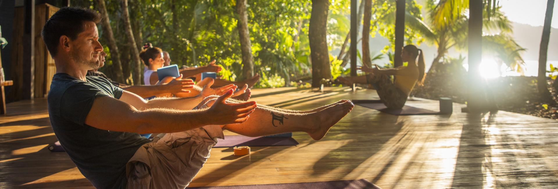 Yoga meditation in Costa Rica